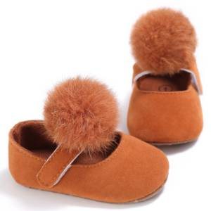 baby girl pompom shoes
