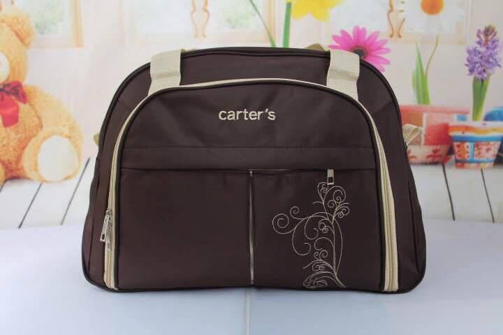 Carters Multifunctional Diaper Bag Brown