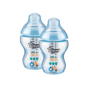 baby tinted decorated bottles