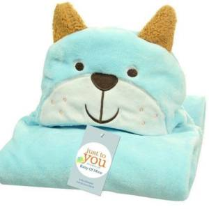 Newborn Cartoon Hooded Baby Blanket