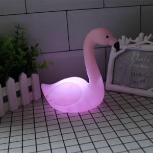 Pink Flamingo Bird Baby Lamp