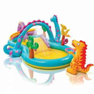 Inflatable Dinoland Swimming Pool for Babies