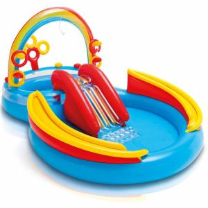 Rainbow Ring Play Center - Inflatable Paddling Pool