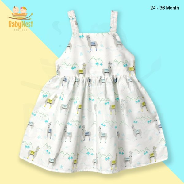Sleeveless Frocks for Baby Girl in Pakistan