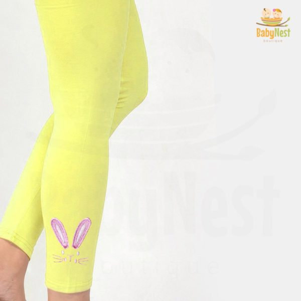 Bunny Embroidery Legging for Girls