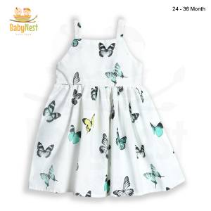 Sleeveless Butterfly Frock for Baby