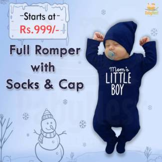 Full Romper with Socks & Cap