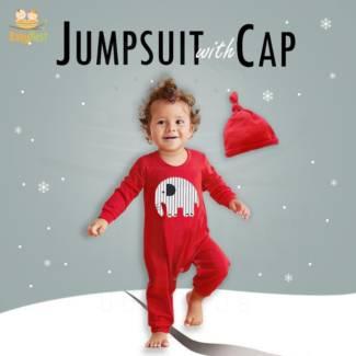 Jumpsuit with Cap