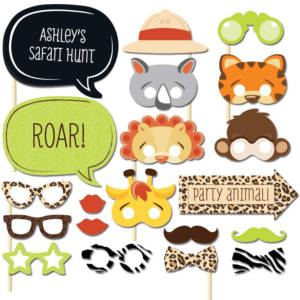Animals Photo Booth Props for Birthday Party