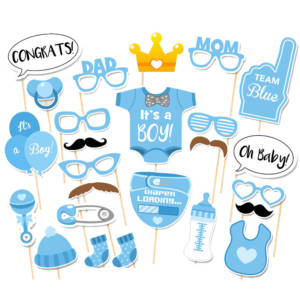 25Pcs Baby Shower Photo Props