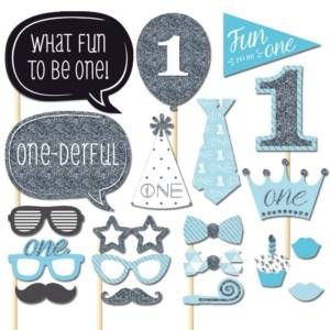 1st Birthday Photo Booth Props For Baby Boy