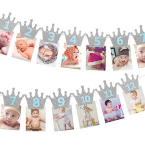 12 Month Photo Banner for Decorations