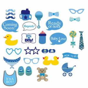 Baby Shower Photo Booth Props Kit
