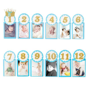 12 Months Photo Banner for Birthday Parties