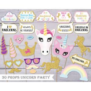 Unicorn Pegasus Photo Booth Props Kit