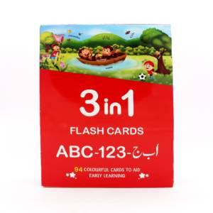 Flash Cards 3 in 1 ABC - 123 - Alif Bay Jeem