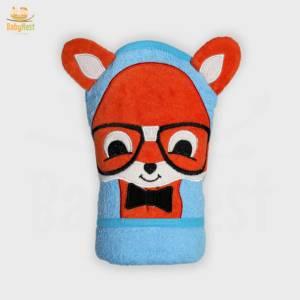 fox character baby towel