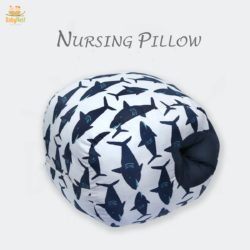 fish printed nursing pillow for baby